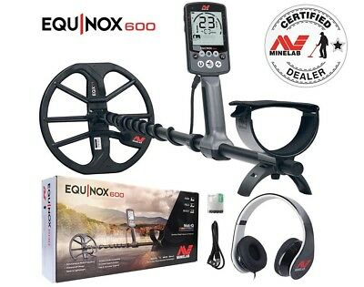 "Minelab EQUINOX 600 Multi-IQ Metal Detector with EQX 11"" Double D Smart Coil"