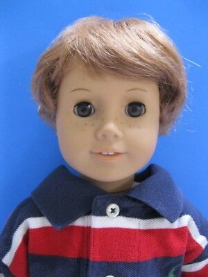 7868069454edd OOAK AMERICAN GIRL CUSTOM BOY DOLL LOGAN PAL Freckles Lt Red Hair Brown Eyes