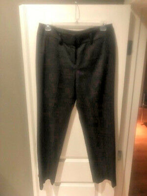 b5cdccb1531 LARRY LEVINE Womens Gray Flat Front Career Pants Slacks Size 12  Poly Ray Spandex