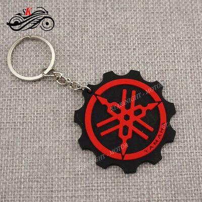 Cool Motorcycle Rubber Keyring Keychain Key Ring Key Chain For YAMAHA YZF Red SK