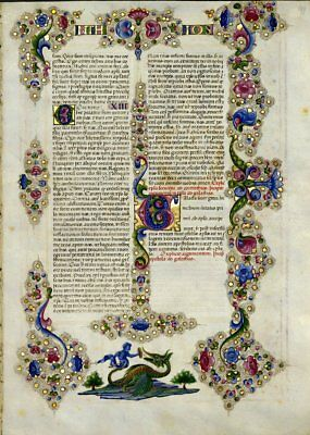 Bible of Borso D'Este Illuminated Manuscript Accented in Gold NEW Gift set