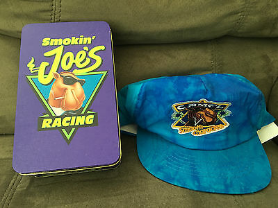 Camel Cigarettes Joe Camel Nylon Hat and Racing Tin with Matches. *NEW*