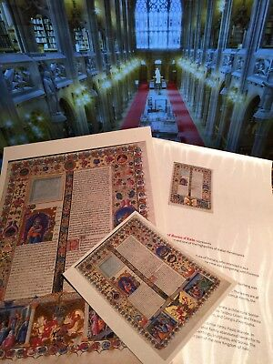 Bible of Borso d'Este  Illuminated Manuscript -Gold Accents Gift set NEW