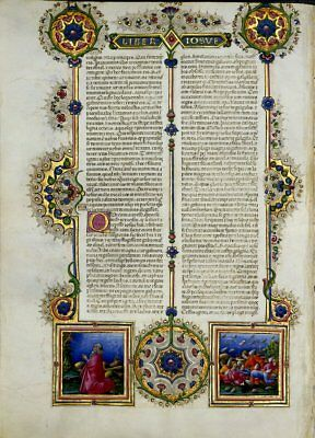 Bible of Borso De Este  Illuminated Manuscript - Gold Accents NEW