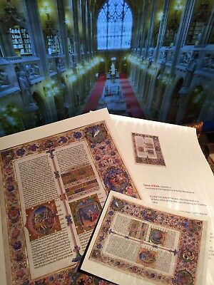 Bible of Borso d'Este  Illuminated Manuscript - Gold Accents NEW