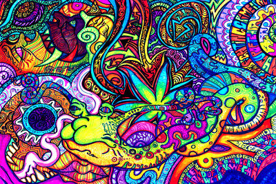 X0646 Psychedelic Trippy Tree Abstract New 24x36'' Art Silk Poster