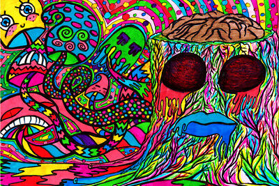 X0647 Psychedelic Trippy Tree Abstract New 24x36'' Art Silk Poster