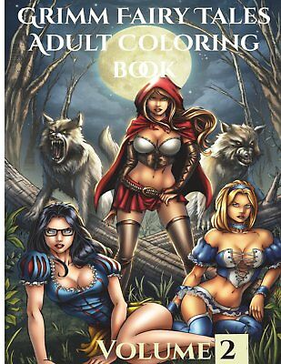 Grimm Fairy Tales Adult Coloring Book (Volume 1) Paperback, 2018