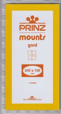 Prinz/Scott Clear Stamp Mount Strips 240x100 mm For US Squares Issues Pack Of 7