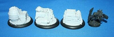 WH30K WH40K Cities of Death Inquisitor - 3x Resin Ammo Crates / Barrels scenery