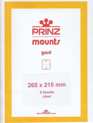 Prinz/Scott Clear Large Stamp Mount Strips 265x215 mm US Sheets & Arctic Animals