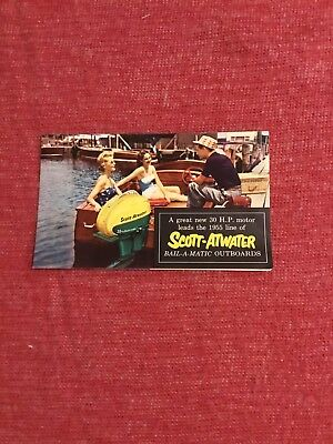 Vintage Outboard Motor Brochure  Scott - Atwater 1955 Minneapolis Great Graphics