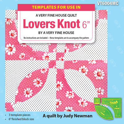 "Quilting Patchwork Sewing Template LOVERS KNOT Set 3 and 6"" Block Matilda's O..."