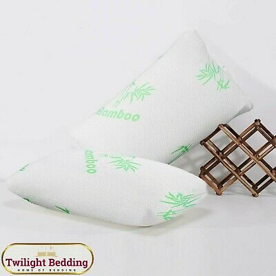 LUXURY HOTEL QUALITY 100% POLYESTER Memory Foam Bamboo Pillow Soft & Comfortable