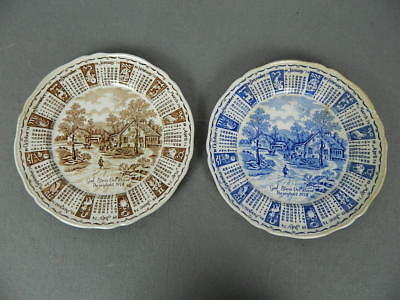 Lot of 2 Alfred Meakin Collector Collectible 1974 Calendar Zodiac Plate Blue