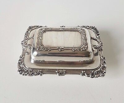 Vintage 1940'S Small Silver Plate Butter Dish Jamieson & Carry Aberdeen