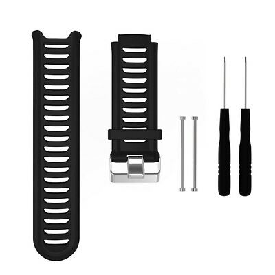 (Colour 1) - Meiruo Silicone Wrist Strap Watch Band for Garmin Forerunner