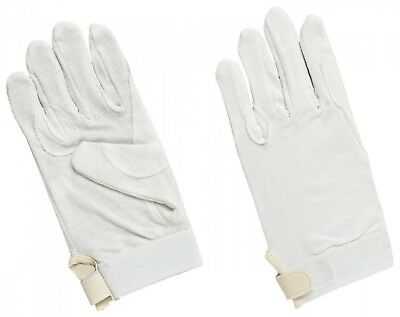 (X-Large, White) - Harry Hall Pimple Grip Gloves. Shipping is Free