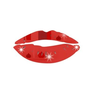 (Red) - YanHoo Removable Lips Mirror Wall Stickers Decal Art PVC Home Room
