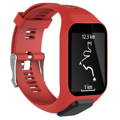 (Red) - . Replacement Silicone Band Strap for Tomtom Spark / 3 Sport GPS Watch