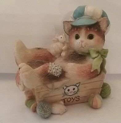 Calico Kittens ALWAYS PAWS FOR PLAYTIME figurine ENESCO