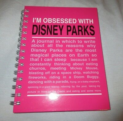 I'm Obsessed With Disney Parks Pink Journal Notebook BRAND NEW CUTE GIFT