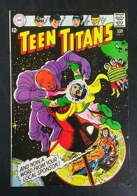 Teen Titans #12 DC Comics 1967 Silver Age 12 Cent! Nick Cardy FN- 5.5 20% Off!