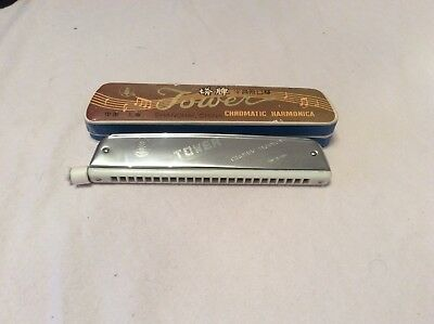 Tower Harmonica Chromatic Mouth Organ With Scale Changer