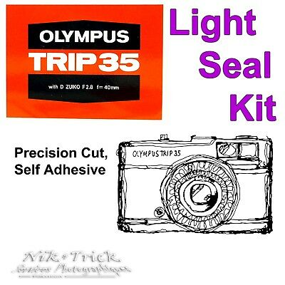 Replacement Light Seal Kit ~ Olympus Trip 35 ~ Enough for 3x Cameras