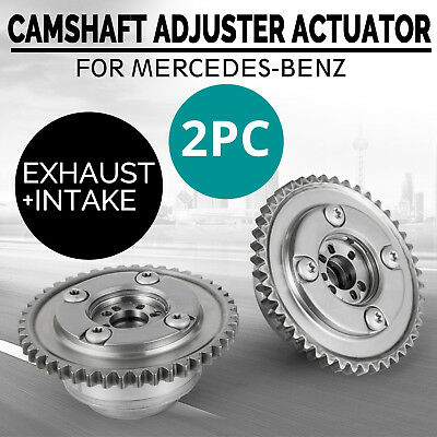 HQ Pair Camshaft Adjuster Actuators (Exhaust+Intake) For Mercedes W204 SLK250 Wo