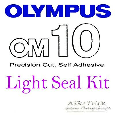 Olympus OM10 ~ Precision New Cut Light Seal Kit ~ 3 Cameras Worth!