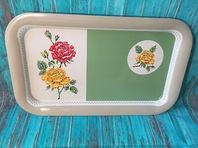 Vtg Tin Tray Yellow Spices by Ohio Art Co. Server Wall Art Kitchen Decoration