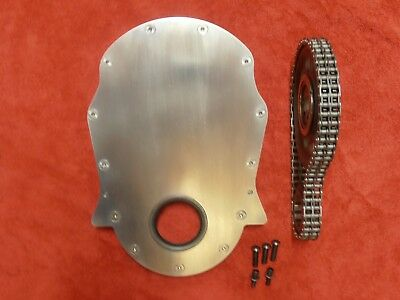 Big Block CHEVY  600 Raised Billet Timing Chain and cover.