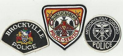 Anishinabek / Brockville / Toronto (ONTARIO) Police Patches