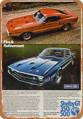 """7"""" x 10"""" Metal Sign - 1969 Shelby GT - Vintage Look Repro"""