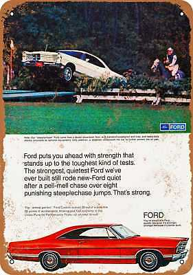 """7"""" x 10"""" Metal Sign - 1967 Ford Galaxie - Vintage Look Repro"""