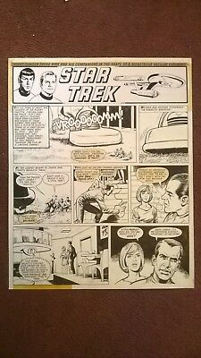 STAR TREK Original comic art - Valiant 1972