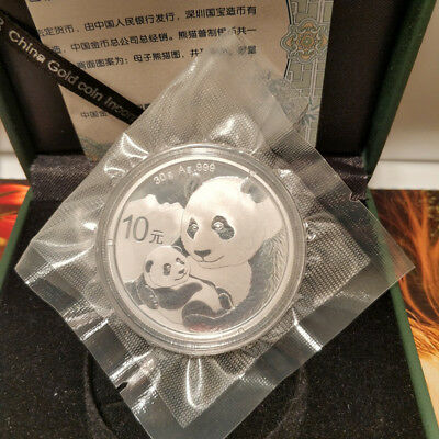 2019 Chinese Panda Silver Coin 30 Gram Ag.999 Silver 10 YUAN In the box