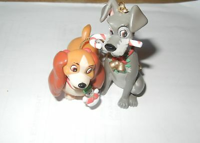 Disney Lady And The Tramp Christmas Ornament Set Of 2 Lady & Tramp