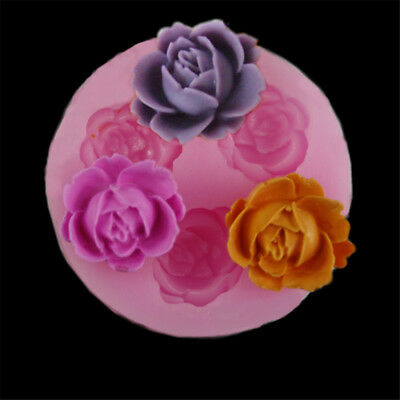 3D rose flower stampo in silicone fondente cake decor chocolate sugarcraft BHQ