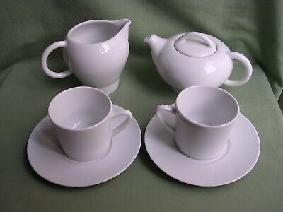 Lot 6 Pieces Petit Dejeuner Porcelaine Blanche Hoteliere Pillivyut France