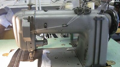 Singer  2 Needle With Gear Puller Model 300W 102 Sewing Machine .