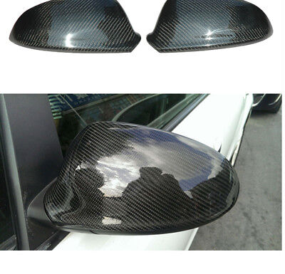Full Carbon Fibre Side Wing Mirror Covers Vauxhall Opel Astra J Mk6 Opc Vxr Cdti