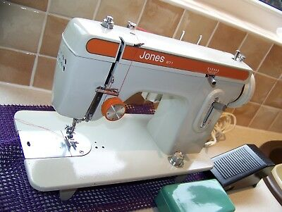 Rock Solid Jones Brother 671 Z/zag Semi Industrial Sewing Machine,serviced