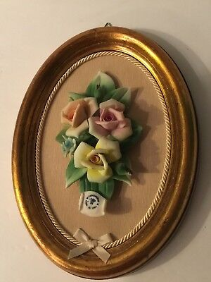 Capodimonte Flowers In Frame Roses