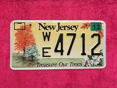 2004 New Jersey, Treasure Our Trees License Plate.