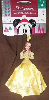 Disney Belle Sketchbook Beauty and the Beast 2018 Christmas Ornament