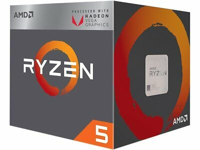 AMD YD2400C5FBBOX Ryzen 5 2400G CPU with Wraith Stealth Cooler and RX Vega GPU