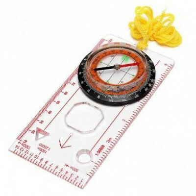 Ungfu Mall Outdoor Baseplate Ruler Map Scale Compass Scouts Camping Hiking Kit