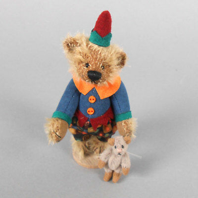 Deb Canham Pied Piper Mohair Bear with Rat 2011 Convention Piece
